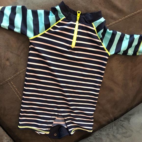 f6a92cbe89 GAP Swim | Striped Long Sleeved Baby Boy Rash Guard | Poshmark